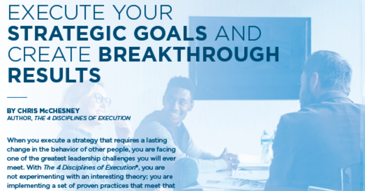 Execute and get Breakthrough Results